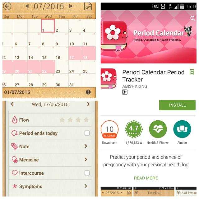 Period Calendar UI